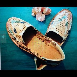 Woven Boho Leather Sandals